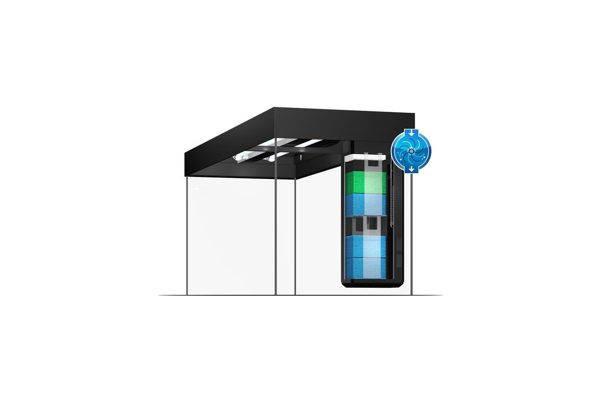 juwel rio 240 led akv rium szett sbx rio 240 ajt s b torral fekete aquafauna akvarisztikai. Black Bedroom Furniture Sets. Home Design Ideas