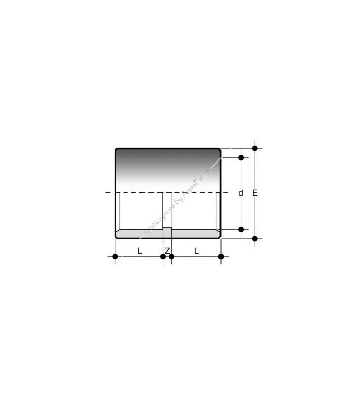 PVC karmantyú 50 mm-es csőhöz