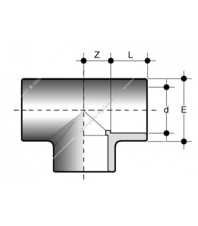 PVC T-idom 50 mm-es csőhöz