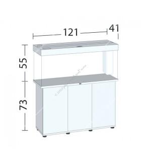 Juwel Rio 240 LED akvárium szett - SBX Rio 240 ajtós bútorral (fekete)
