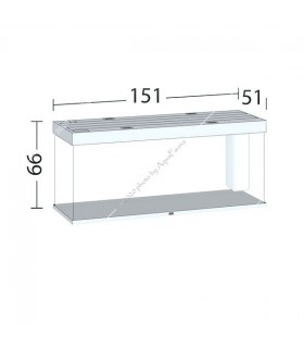Juwel Rio 450 LED akvárium szett (fehér) - bútor nélkül