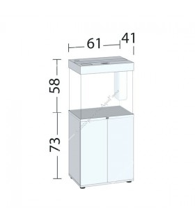 Juwel Lido 120 LED akvárium szett - SBX Lido 120 ajtós bútorral (sötét fa)