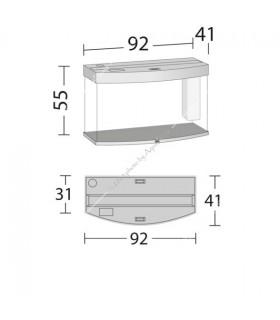 Juwel Vision 180 LED akvárium szett (sötét fa) - bútor nélkül