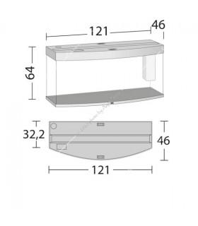 Juwel Vision 260 LED akvárium szett (világos fa) - bútor nélkül
