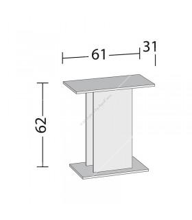 Juwel bútor SB 60/50 fehér (Rekord600)