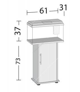 Juwel Primo 60 LED akvárium szett - SB 60/70 ajtós bútorral (fekete)