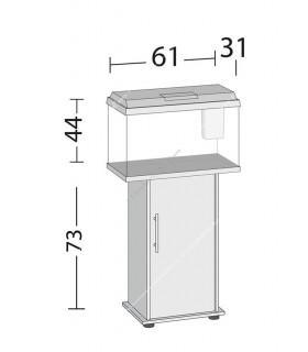 Juwel Primo 70 LED akvárium szett - SB 60/70 ajtós bútorral (fekete)