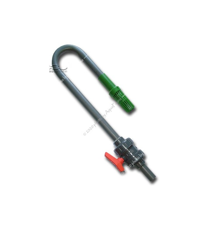PVC vízcserélő pipa csappal, pipakosárral