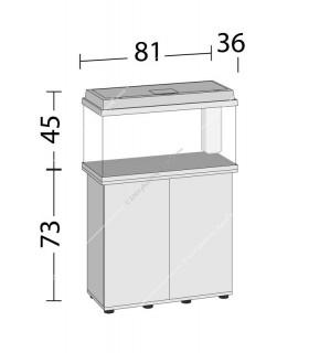 Juwel Primo 110 LED akvárium szett - SBX Rio 125 ajtós bútorral (fekete)