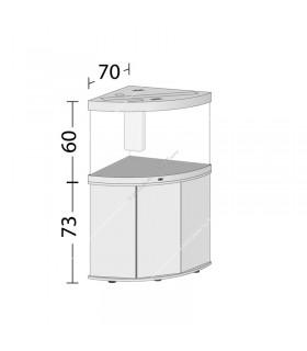 Juwel Trigon 190 LED akvárium szett - SBX Trigon 190 ajtós bútorral (világos fa)