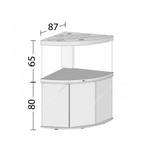Juwel Trigon 350 LED akvárium szett - SBX Trigon 350 ajtós bútorral (sötét fa)