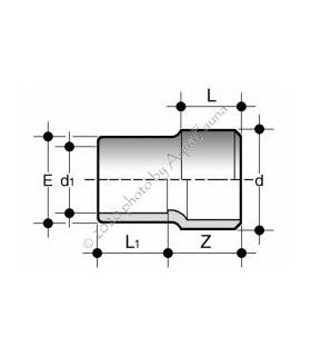 PVC szűkítő 20/16 hosszú változat