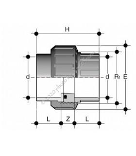 PVC hollander, 25 mm-es csőhöz