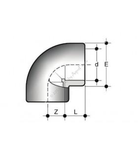 PVC 90° könyök idom 63 mm-es csőhöz