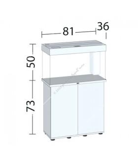 Juwel Rio 125 LED akvárium szett - SBX Rio 125 ajtós bútorral (fehér)