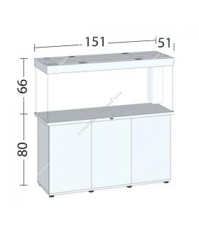 Juwel Rio 450 LED akvárium szett - SBX Rio 450 ajtós bútorral (világos fa)