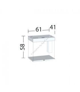 Juwel Lido 120 LED akvárium szett (sötét fa) - bútor nélkül