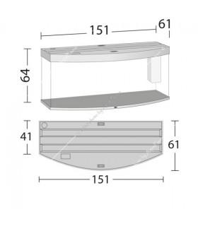 Juwel Vision 450 LED akvárium szett (világos fa) - bútor nélkül
