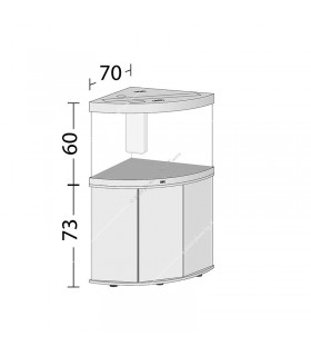Juwel Trigon 190 LED akvárium szett - SBX Trigon 190 ajtós bútorral (fehér)