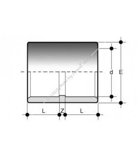 PVC toldókarmantyú 25 mm-es csőhöz