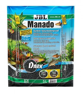 JBL Manado Dark 5 liter - általános akváriumtalaj (fekete)