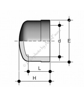 PVC véglezáró 50 mm-es csőhöz
