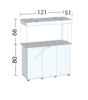 Juwel Rio 350 LED akvárium szett - SBX Rio 350 ajtós bútorral (fekete)