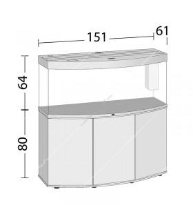 Juwel Vision 450 LED akvárium szett - SBX Vision 450 ajtós bútorral (fekete)