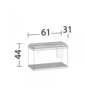 Juwel Primo 70 LED akvárium szett (fehér) - bútor nélkül