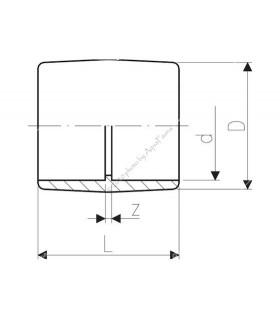 PVC toldókarmantyú 8 mm-es csőhöz