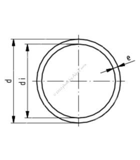 PVC cső, 6 mm, 1 m