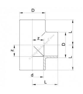 PVC T-idom 6 mm-es csőhöz