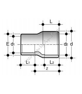 PVC szűkítő 50/40/20 (hosszú változat)