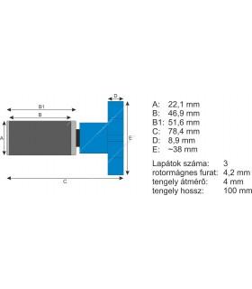 JBL CristalProfi rotor kerámiatengellyel e1901/e1902 Greenline
