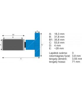 JBL CristalProfi rotor kerámiatengellyel e401/e402 Greenline
