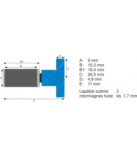 Atman rotor AT-F301 belső szűrőhöz