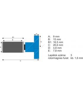 Atman rotor HF-0100 akasztós szűrőhöz