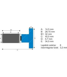 Atman rotor kerámiatengellyel EF-1/EF-2, AT-3335/3336 külső szűrőkhöz