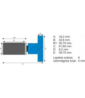 Atman rotor kerámiatengellyel EF-3/EF-4, AT-3337/3338, CF-1000/1200 külső szűrőkhöz