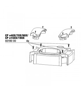 JBL CristalProfi csavar készlet a pumpafej takaróhoz (4 db)