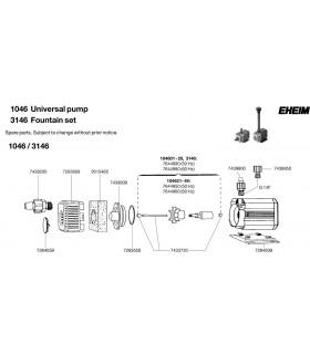 Eheim 1046 centrifugális vízpumpa (1046219)